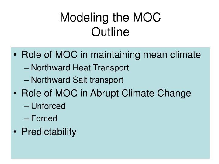 Modeling the moc outline