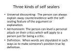 three kinds of self sealers