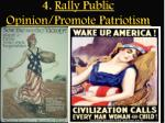 4 rally public opinion promote patriotism