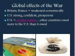 global effects of the war