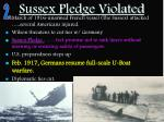 sussex pledge violated