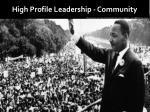 high profile leadership community