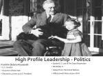 high profile leadership politics