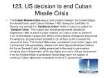 123 us decision to end cuban missile crisis