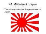 48 militarism in japan