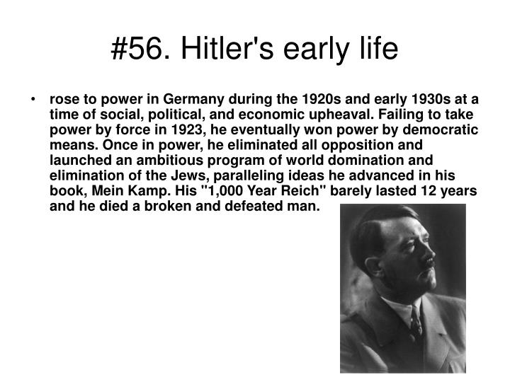 #56. Hitler's early life