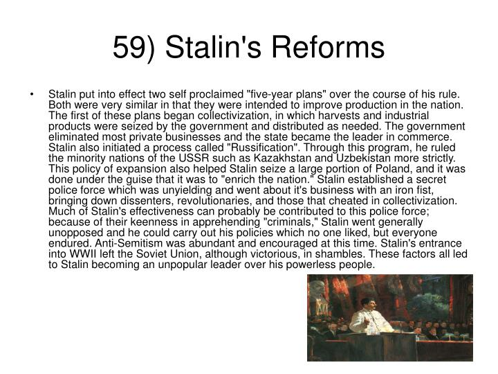 59) Stalin's Reforms