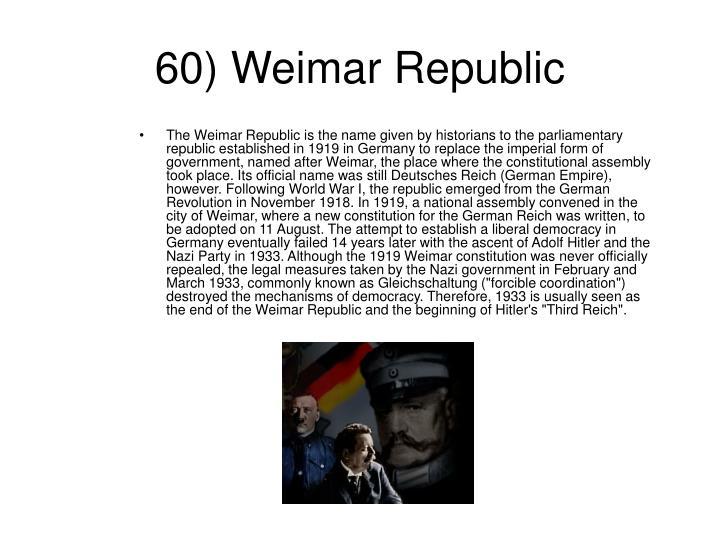 60) Weimar Republic