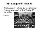 61 league of nations