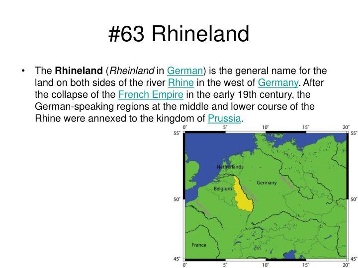 #63 Rhineland