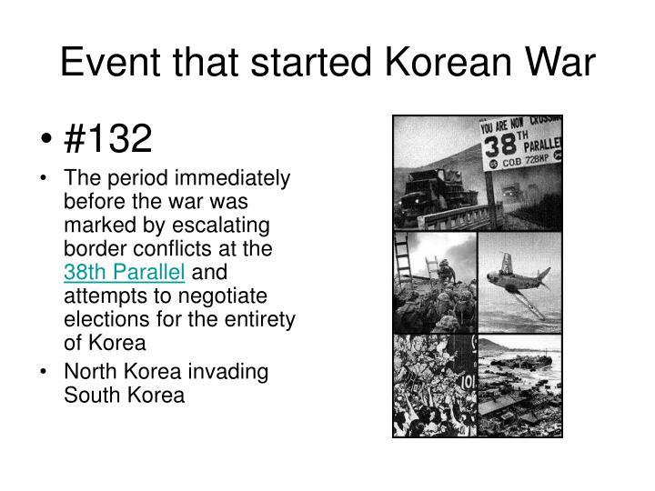 Event that started Korean War