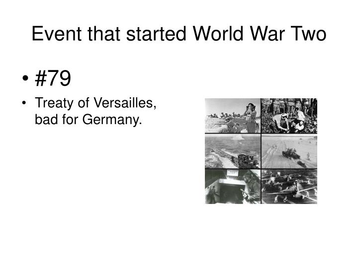 Event that started World War Two