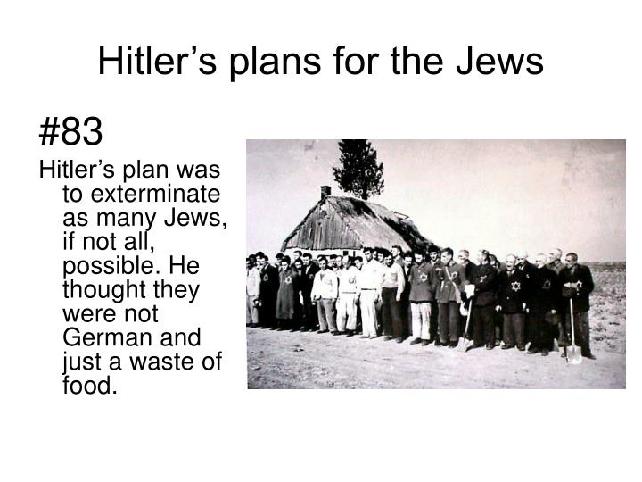 Hitler's plans for the Jews