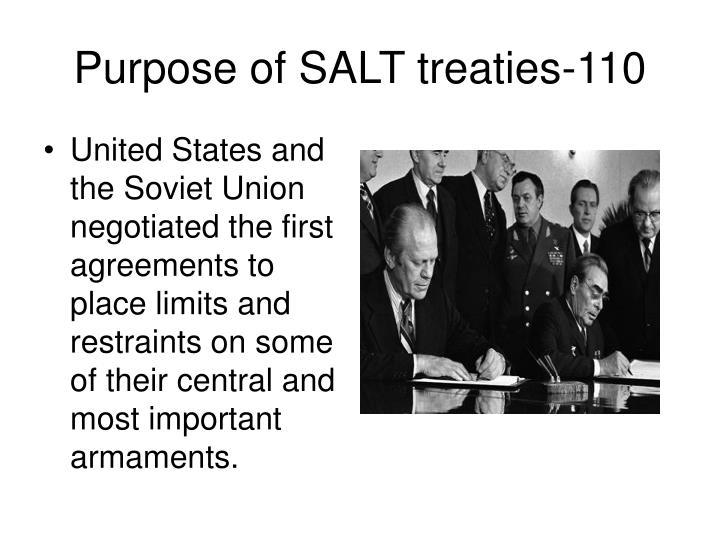 Purpose of SALT treaties-110