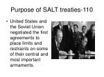 purpose of salt treaties 110