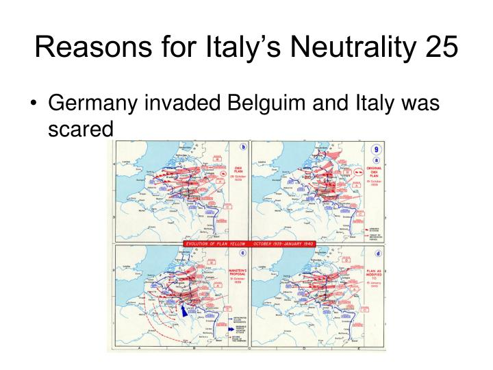 Reasons for Italy's Neutrality 25