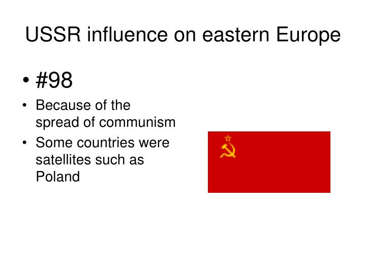 USSR influence on eastern Europe
