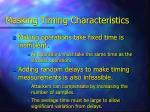 masking timing characteristics