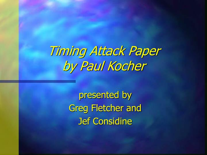 timing attack paper by paul kocher n.