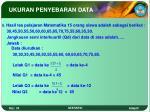 ukuran penyebaran data12