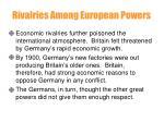 rivalries among european powers