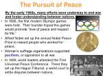 the pursuit of peace