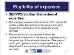eligibility of expenses1