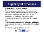 eligibility of expenses2