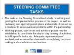 steering committee tasks