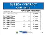 subsidy contract contents1
