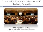 national level annual government industry summits