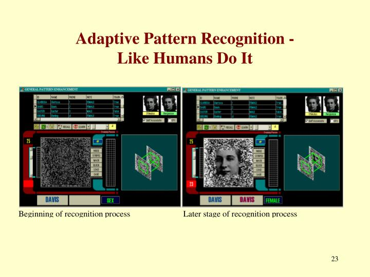 Adaptive Pattern Recognition -