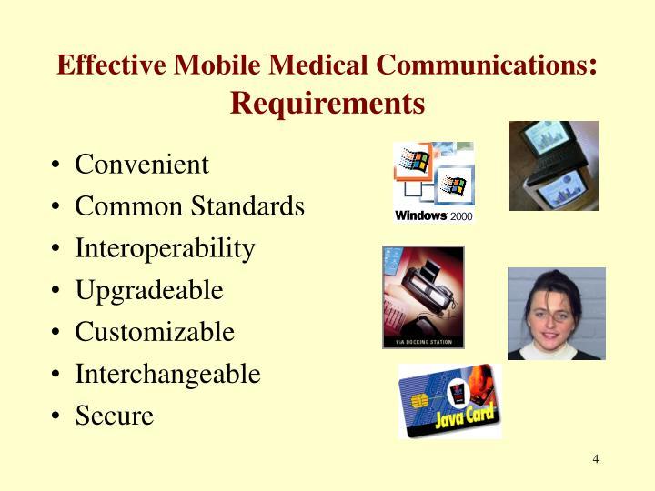 Effective Mobile Medical Communications