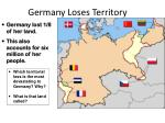 germany loses territory