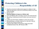 protecting children is the responsibility of all