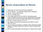review of procedures in mearns