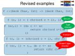 revised examples