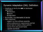 dynamic adaptation da definition