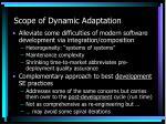 scope of dynamic adaptation