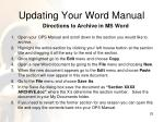 updating your word manual1