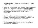 aggregate data vs granular data