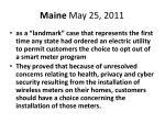 maine may 25 2011