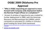 og e 2009 oklahoma pre approval