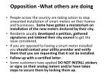 opposition what others are doing
