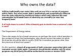 who owns the data1