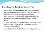 electronic mail atau e mail