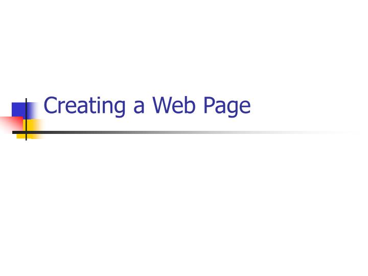 creating a web page n.
