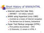 short history of www html