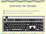 definici n de teclado