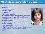 what does meth do to you